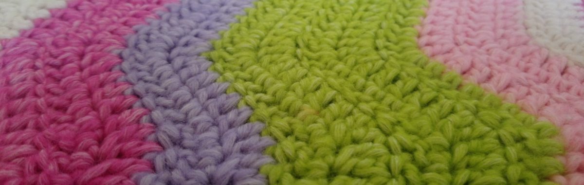 Purple Turquoise Crochet